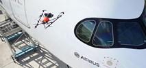 Airbus wprowadza drona do kontroli wizualnej samolotów w hangarach