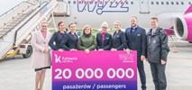 Wizz Air przewiózł 20 mln pasażerów z Katowice Airport