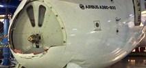 A380 Emirates uszkodzony w hangarze w Dubaju