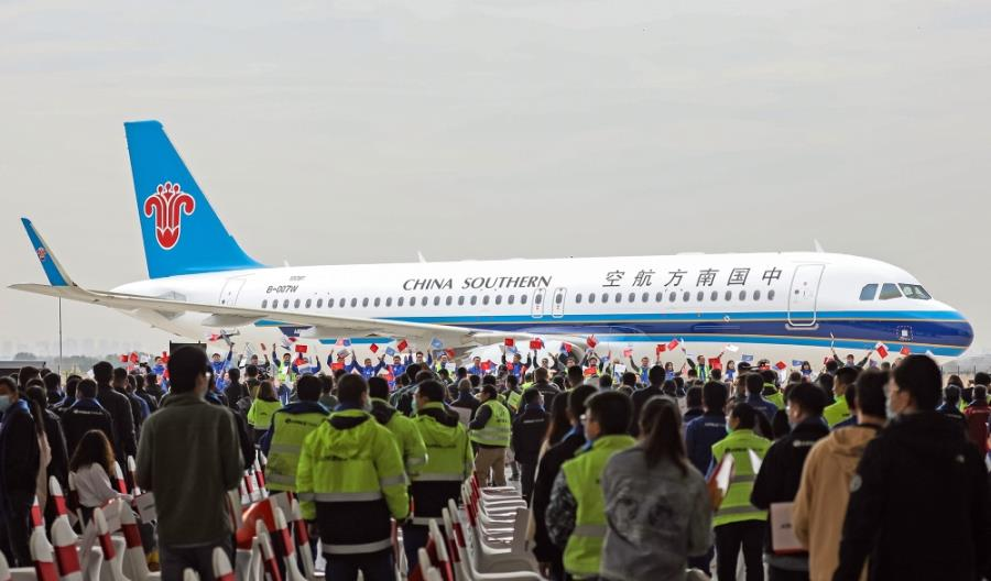 """500. """"chiński"""" Airbus dla China Southern Airlines"""