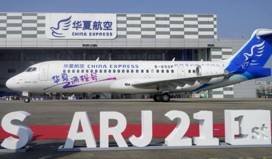 """China Express odbierają pierwszy samolot ARJ21. COMAC zyska """"swojego"""" przewoźnika"""
