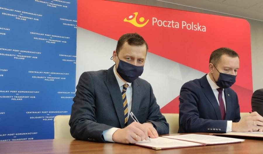 Hub logistyczny w Porcie Solidarność. Bliska współpraca spółki CPK i Poczty Polskiej