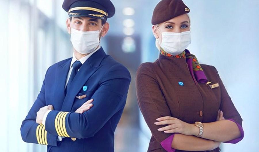 Etihad Airways zaszczepiły 100 proc. pracowników pierwszej linii