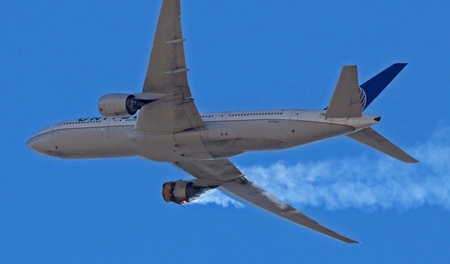 Boeing zalecił przewoźnikom zawieszenie lotów odrzutowcami B777 z silnikami PW4000