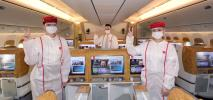 Pierwszy lot Emirates obsługiwany wyłącznie przez zaszczepione zespoły