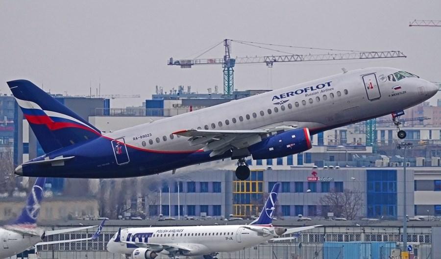 Aerofłot z drugim rejsem tygodniowo w Warszawie. Powrócił Suchoj SSJ100