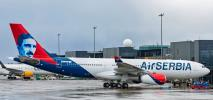 Specjalne malowanie na nowym airbusie A330 linii Air Serbia