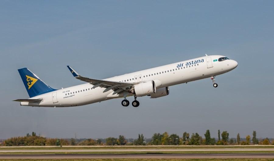 Piąty A321LR wzmocnił flotę Air Astana