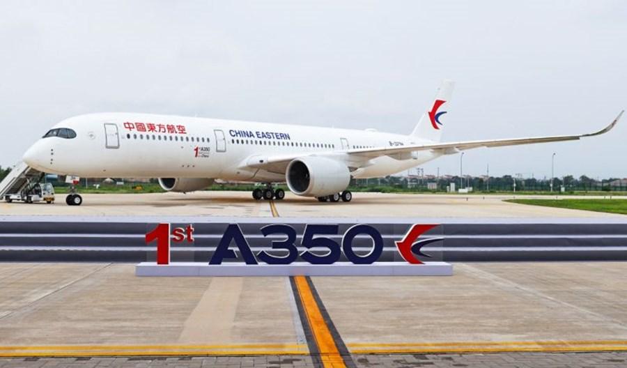 Airbus dostarczył pierwszego A350 z centrum wyposażenia i dostaw w Chinach