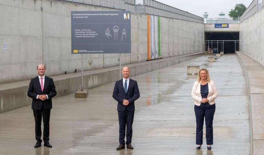 Monachium: Finisz rozbudowy tunelu kolejowego na lotnisku