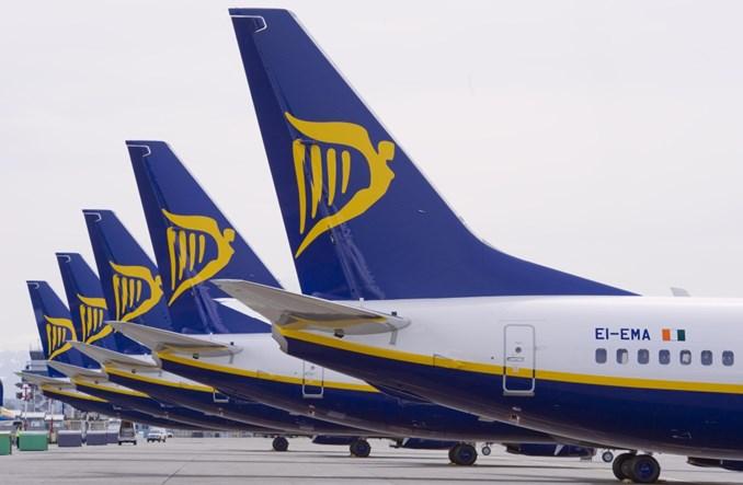 Ryanair: Wzrost liczby pasażerów najniższy od lat