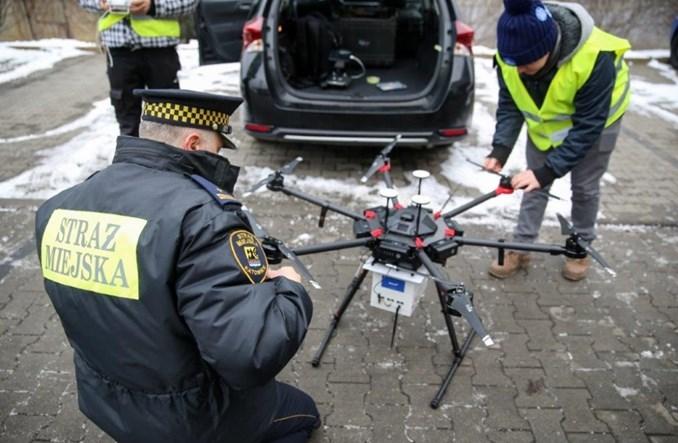 Katowice: Pierwszy mandat. Dron namierzył źródło zanieczyszczenia powietrza