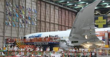 Boeing zawiesza produkcję w Everett na czas nieokreślony