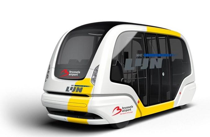Autonomiczne pojazdy na brukselskim lotnisku