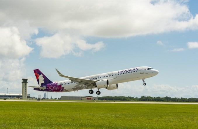 Pierwszy wyprodukowany w USA Airbus A321 we flocie Hawaiian Airlines