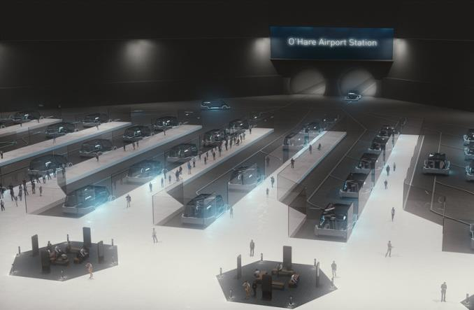 Chicago: Nowe połączenie na O'Hare od Elona Muska