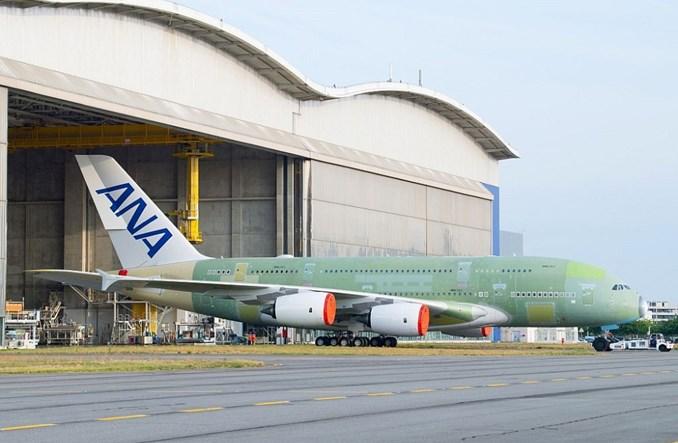 ANA: Pierwszy A380 już po montażu końcowym