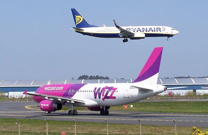 Wizz Air i Ryanair odnotowały wzrost w sierpniu
