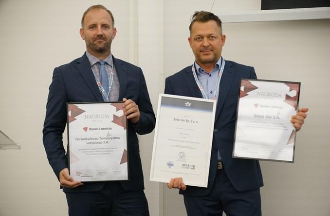 Nagrody portalu Rynek Lotniczy dla Enter Air i Górnośląskiego Towarzystwa Lotniczego