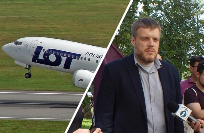 Adrian Zandberg o strajku w PLL LOT: Morawiecki milczy. Rachunek zapłacą podatnicy