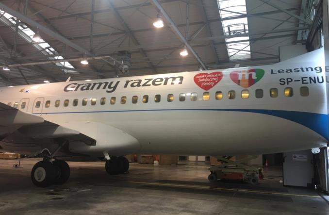 Samolot Enter Air w sercach WOŚP-u (Zdjęcia)