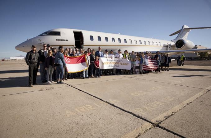 Bombardier Global 7500 z rekordem przelotu