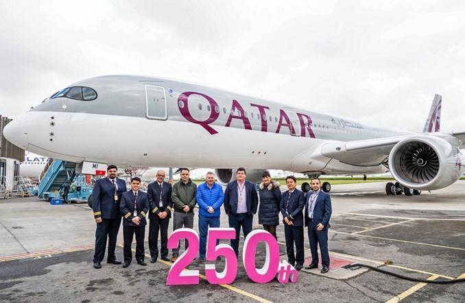 Linie Qatar Airways odebrały 250. samolot
