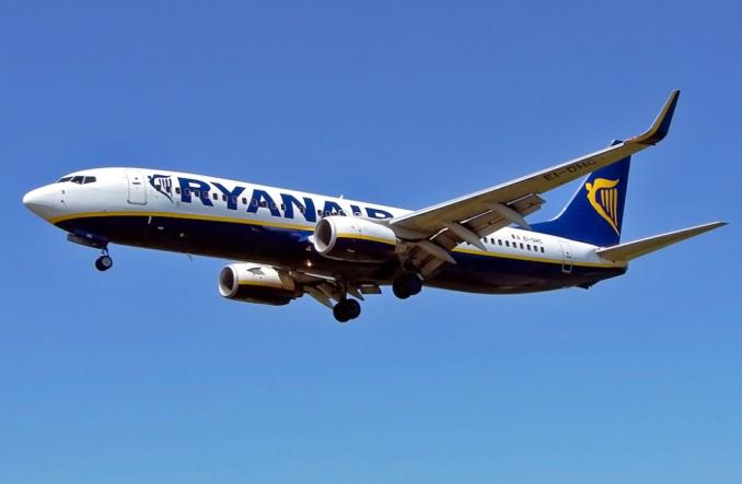 Loty widma maszyn Ryanaira