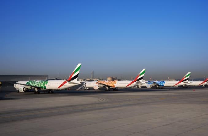 Emirates wykonały malowanie 40 samolotów na Expo 2020 (Wideo)