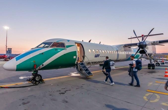 Inauguracyjny lot z Krakowa na Mazury