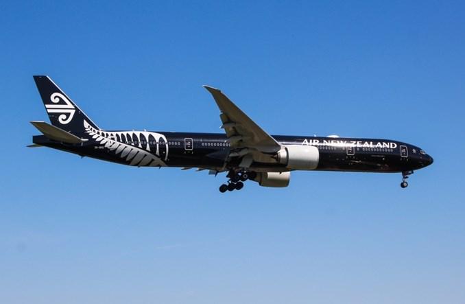 Air New Zealand straciły 100 mln dolarów na lotach do Chin