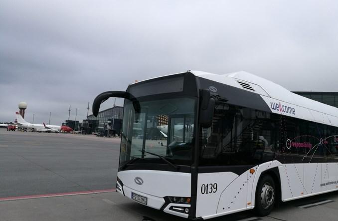 Gdańsk: Pierwszy elektryczny autobus na polskim lotnisku