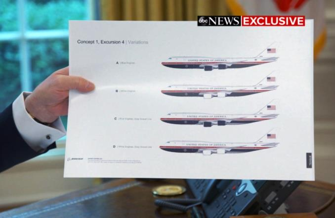 Donald Trump ujawnił nowy design Air Force One