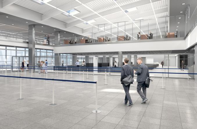 Wizualizacje terminalu B w Katowice Airport
