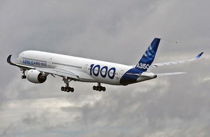 Airbus A350-1000 będzie mógł zabrać do 480 pasażerów