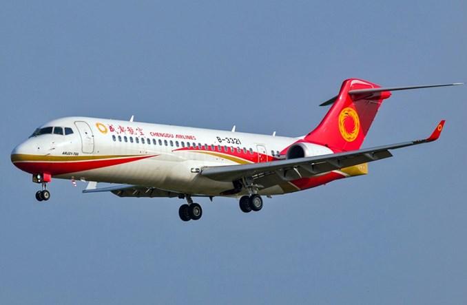 Trzy chińskie linie zamawiają po 35 maszyn COMAC ARJ21-700