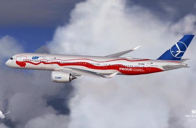 Czy tak mogą wyglądać nowe Airbusy A350 w barwach LOT-u?