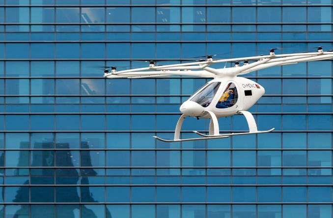 Singapur: Próbny lot latającej taksówki