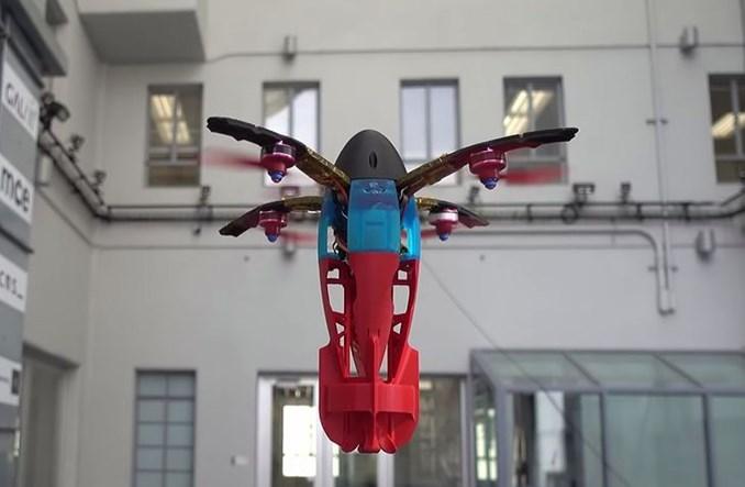 Testy dronów wystrzeliwanych z dział pneumatycznych