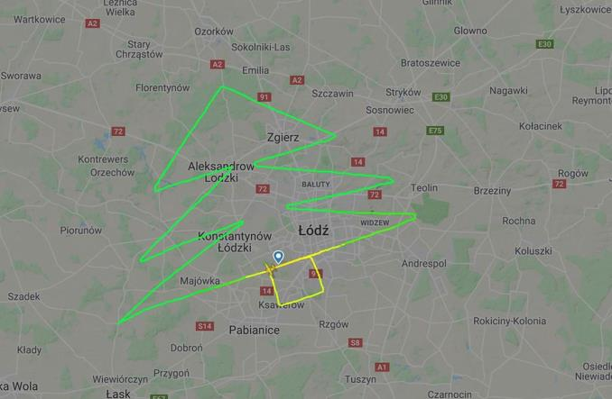 Lotnicza choinka od Bartolini Air i Łódź Airport