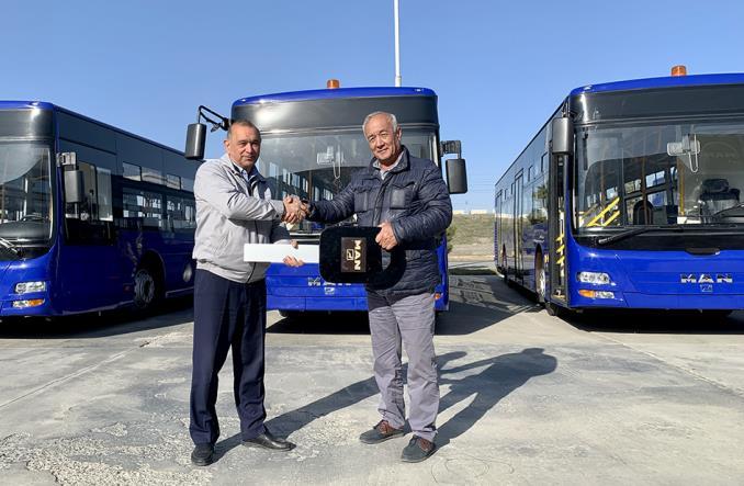 Autobusy MAN dla lotniska w Taszkencie