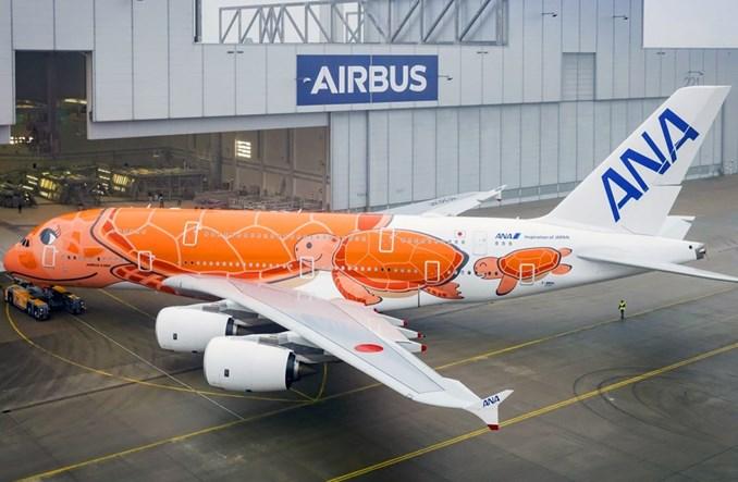 ANA: Trzeci i ostatni A380 już w pełnych barwach