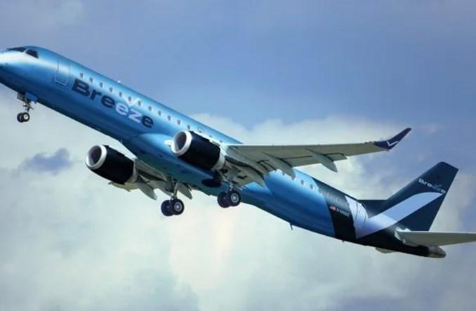 Inauguracja Breeze Airways odłożona na 2021 rok