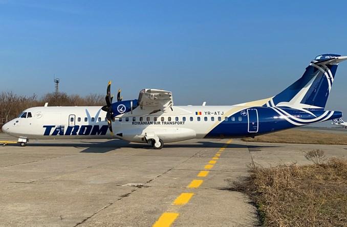 TAROM odebrał pierwszego ATR-a 72-600 w nowym malowaniu