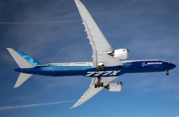 Boeing B777X podczas pierwszego lotu (Zdjęcia)