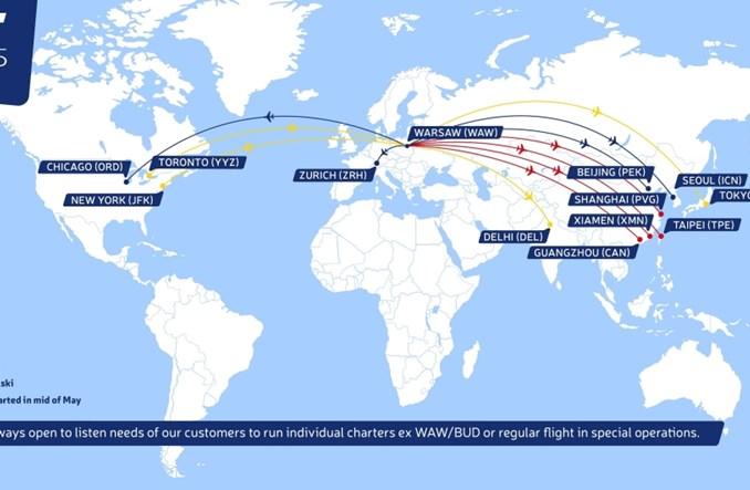 Cztery nowe trasy LOT Cargo. Poleci za Atlantyk oraz do Azji