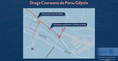 Droga Czerwona do Portu Gdynia. Inwestycja współfinansowana z Programu Wieloletniego CPK
