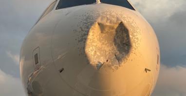 Nowy Jork: A319 wylądował z uszkodzonym nosem