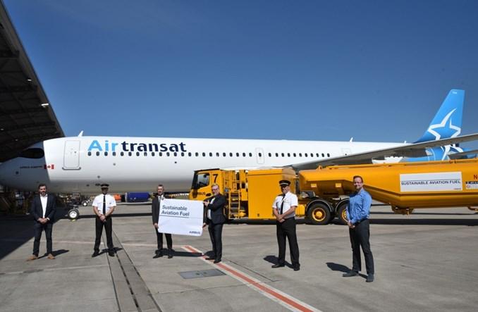 Airbus rozpoczyna dostawy z Hamburga na biopaliwie