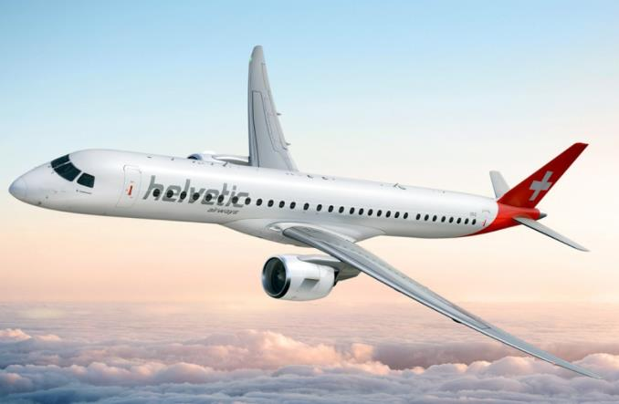 Helvetic Airways zamienia część zamówienia embraerów E190-E2 na E195-E2